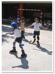 Actividades Extraescolares de patinaje en línea. Taller gratuito de promoción. Escuela de Patinaje Zlalom.