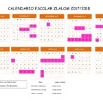 calendario niños 2018 club