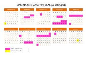 calendario adultos 2017 - 2018
